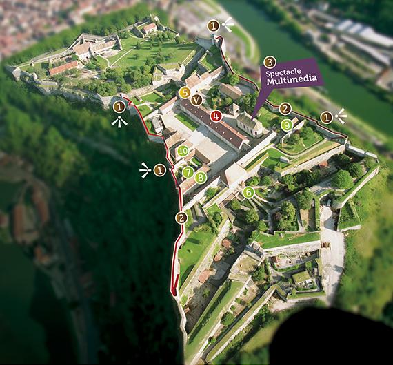 plan de la Citadelle de Besançon